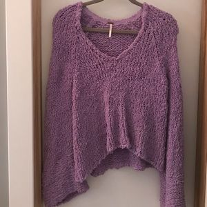 Lavender Bell Sleeve Free People Sweater size S